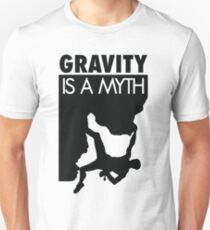 Gravity is a myth Slim Fit T-Shirt