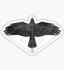 Wings of Night (raven) Sticker