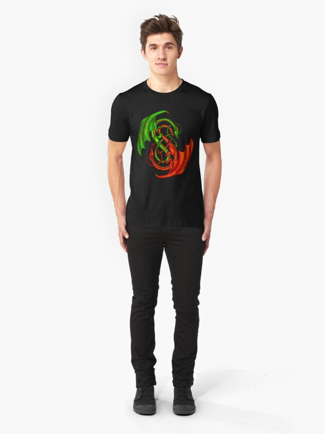 Alternate view of Entwined Dragons Slim Fit T-Shirt