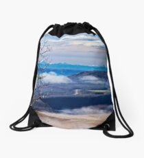 A Road Half Way There Drawstring Bag