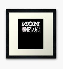 Mom Of Boys Baseball T Shirt Tee Framed Print