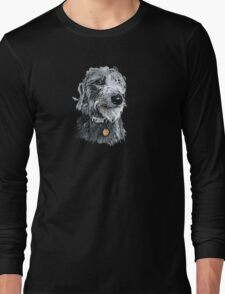 Cute stylized scruffy pup Long Sleeve T-Shirt
