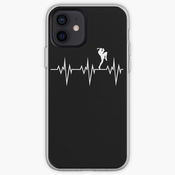 muay thai heart beat thailand martial art iPhone Soft Case