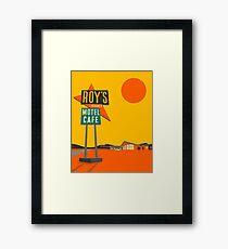 ROY'S CAFE Framed Print