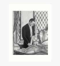 Gone With the Wind Boudoir Drawing Art Print