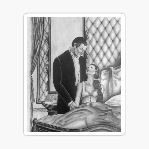 Gone With the Wind Boudoir Drawing Sticker