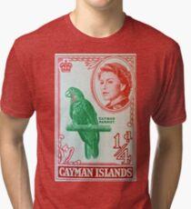 """1962 Cayman Islands Stamp"" Tri-blend T-Shirt"