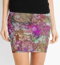 Fuschia Granite Mini Skirt