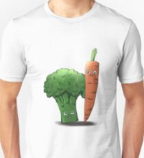 Left-Right : The Mansion // The Vegetables Unisex T-Shirt