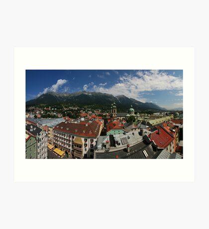 Postcard from Innsbruck Art Print
