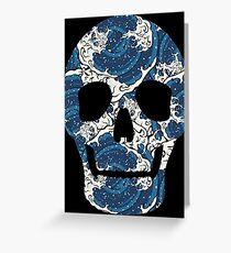 Japanese Art Ocean Wave Skull Tattoo  Greeting Card