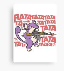 Rattata Machine gun Canvas Print