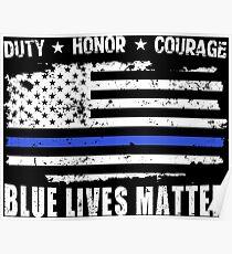Blue Lives Matter-police Poster