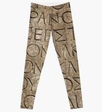 Roman / Latin alphabet set in stone Leggings