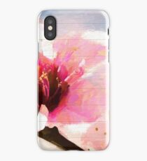 Cherry Blossom Wood Background iPhone Case/Skin