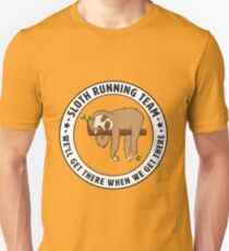 Sloth Running Team Design Unisex T-Shirt