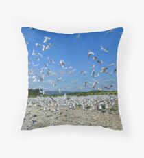 The Seagull Colony - River Bank - NZ  Throw Pillow