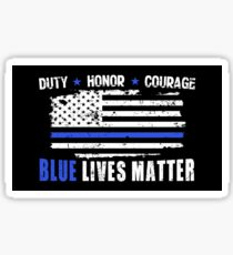 Blue lives matter | Law Enforcement | thin blue line | police | leo Sticker