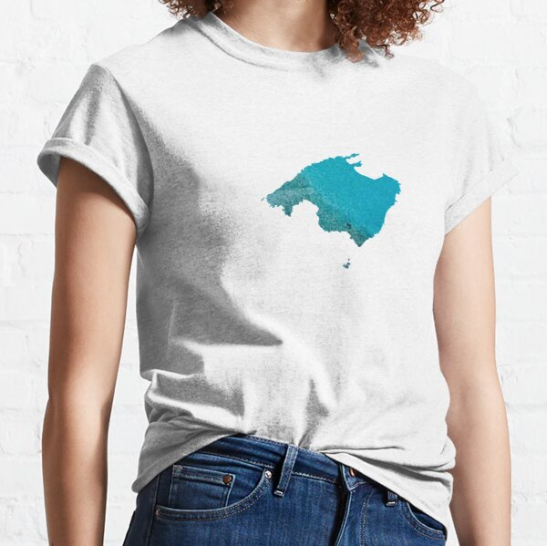 Mallorca Water Map Classic T-Shirt
