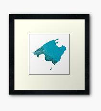 Mallorca Water Map Framed Print