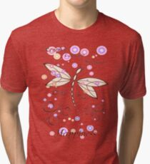 Dancing Dragonfly - Bringer of Renewal, Courage, Strength, and Happiness Tri-blend T-Shirt