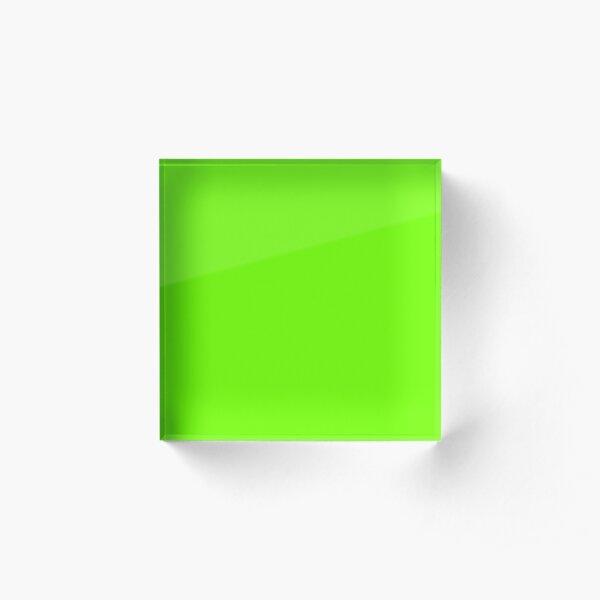 Super Bright Fluorescent Green Neon Acrylic Block