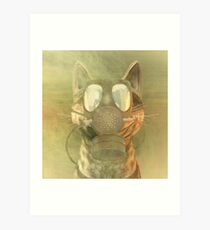 Schrödinger underestimates the cat Art Print