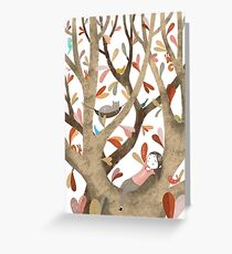 In The Tree No 2 Greeting Card
