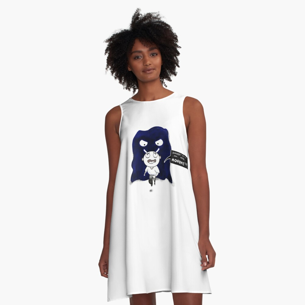 M is For Monster Monday A-Line Dress