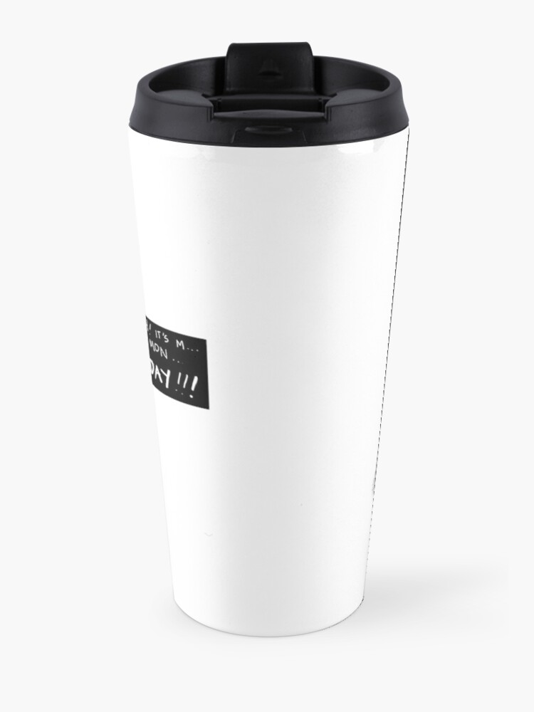 Alternate view of M is For Monster Monday Travel Mug