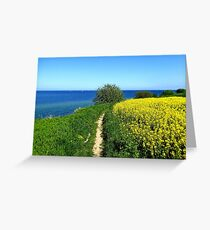 Walking along the spring cliff Greeting Card