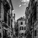 Exploring Dubrovnik - B&W by Tom Gomez