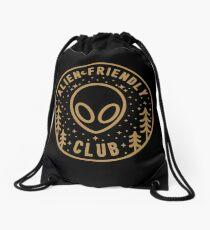 Alien Friendly Club Drawstring Bag