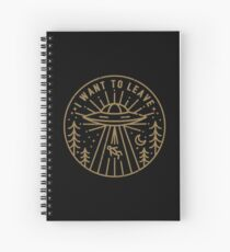 I Want To Leave v2 Spiral Notebook