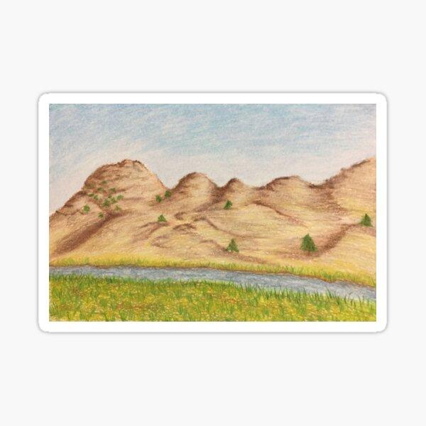 North Platte River Drawing Sticker