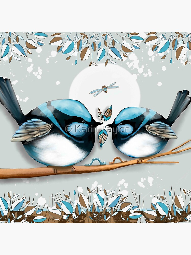 Blue Wrens by karin