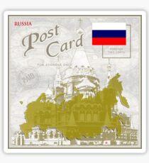 Russia Curio Post Card Sticker
