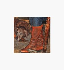 Boots and Buddy Painted Art Board