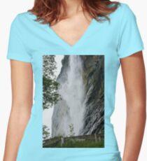 Wasserfal Women's Fitted V-Neck T-Shirt