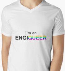 Ich bin ein Ingenieur T-Shirt mit V-Ausschnitt