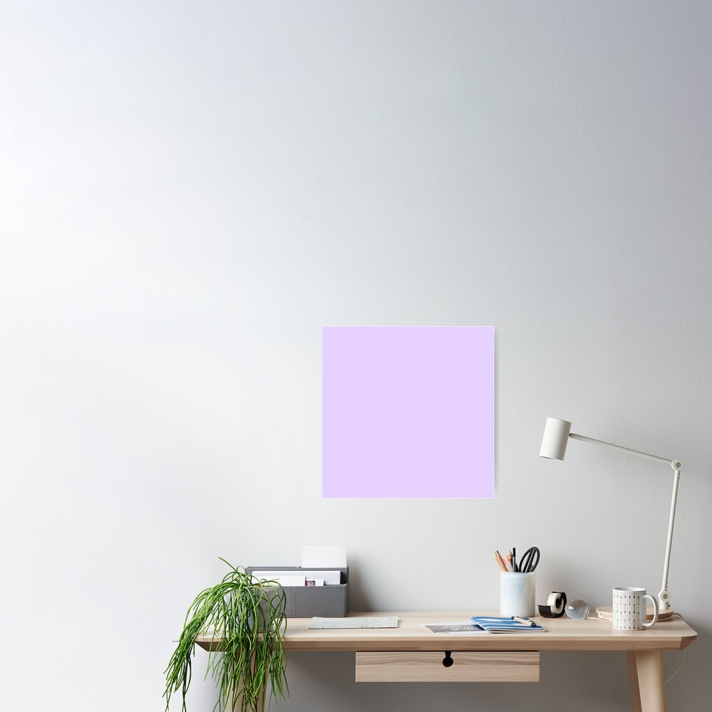 Pale Lilac Solid Color Poster