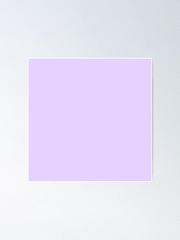 Alternate view of Pale Lilac Solid Color Poster