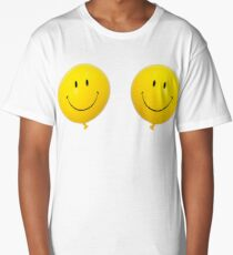 Happy Face Balloon All Smiles stickers Long T-Shirt