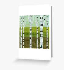 Summer Birches Greeting Card