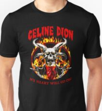My heart will go on fire metal Unisex T-Shirt