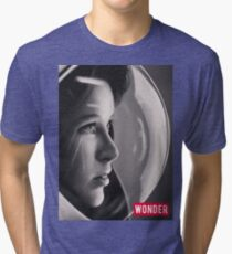 Space Girl Longing for the Unknown (WONDER) Tri-blend T-Shirt