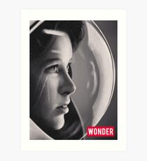 Space Girl Longing for the Unknown (WONDER) Art Print