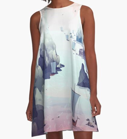 Edge of the Earth A-Line Dress