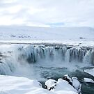 Godafoss Waterfall in Iceland by Sue Robinson