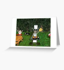 Corky the Grillman Greeting Card